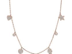 "Joanli Nor ""Hayleynor"" halskæde rosaforgyldt sølv (245 168-4)"