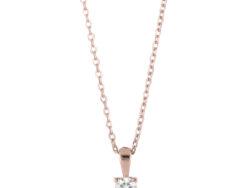 "Joanli Nor ""Hegenor"" halskæde rosaforgyldt sølv (245 170-4)"