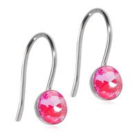Blomdahl Titanium ørehænger på en bøjle med en 5 mm pink swarowski krystal.