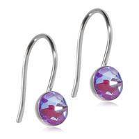 Blomdahl Titanium ørehænger på en bøjle med en 5 mm lilla swarowski krystal.