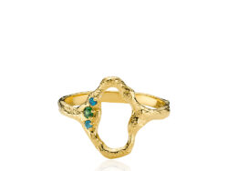 "Izabel Camille ""Ocean"" ring forgyldt sølv (A4165gs)"