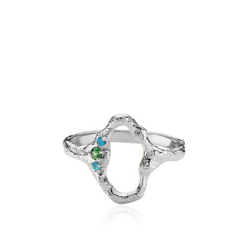 """Izabel Camille """"Ocean"""" ring rhodineret sølv (A4165sws)"""