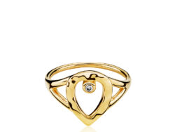 "Izabel Camille ""Cecilie Schmeichel"" ring forgyldt sølv (A4169gs)"