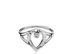 "Izabel Camille ""Cecilie Schmeichel"" ring rhodineret sølv (A4169sws)"