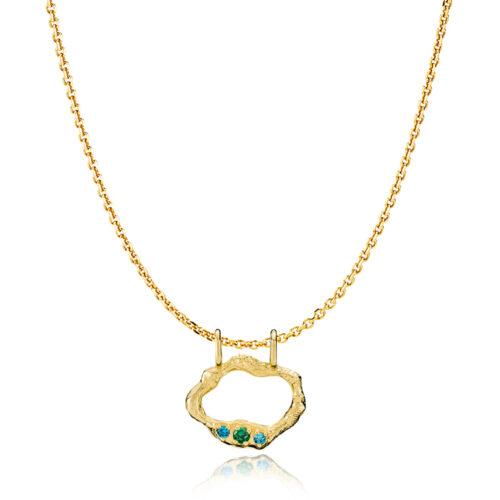 """Izabel Camille """"Ocean"""" halskæde forgyldt sølv (S20431gs45)"""