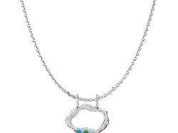 """Izabel Camille """"Ocean"""" halskæde rhodineret sølv (S20431sws45)"""